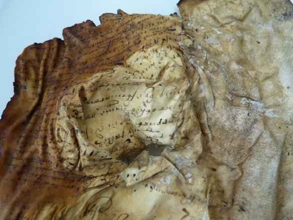 Creases and tears are present in most of the vellum sheets.