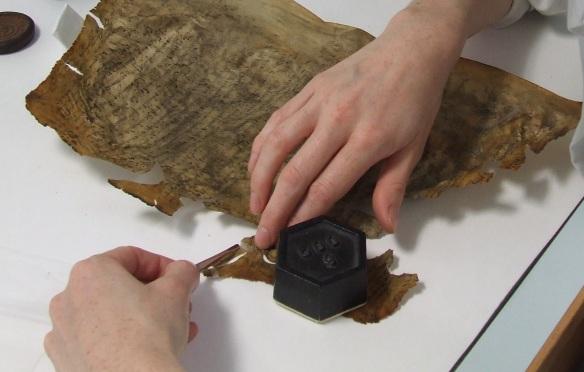 Attaching gelatine coated tissue splints